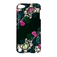Green And Pink Bubbles Apple Ipod Touch 5 Hardshell Case by Valentinaart