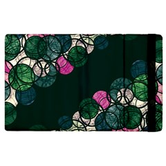Green And Pink Bubbles Apple Ipad 2 Flip Case by Valentinaart