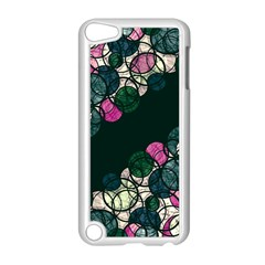 Green And Pink Bubbles Apple Ipod Touch 5 Case (white) by Valentinaart