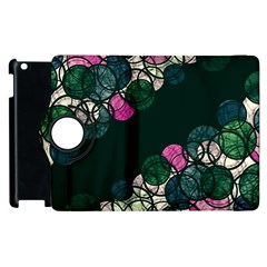 Green And Pink Bubbles Apple Ipad 2 Flip 360 Case by Valentinaart