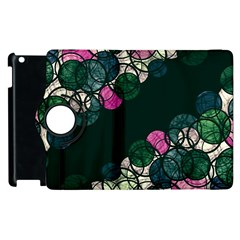 Green And Pink Bubbles Apple Ipad 3/4 Flip 360 Case by Valentinaart