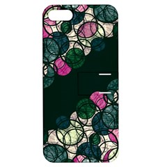 Green And Pink Bubbles Apple Iphone 5 Hardshell Case With Stand by Valentinaart