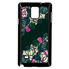 Green And Pink Bubbles Samsung Galaxy Note 4 Case (black) by Valentinaart