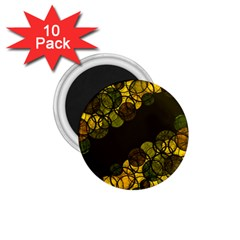 Yellow Bubbles 1 75  Magnets (10 Pack)  by Valentinaart