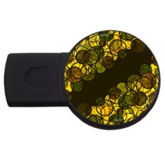 Yellow Bubbles Usb Flash Drive Round (2 Gb)  by Valentinaart