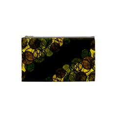 Yellow Bubbles Cosmetic Bag (small)  by Valentinaart