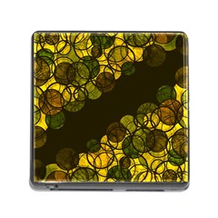 Yellow Bubbles Memory Card Reader (square) by Valentinaart
