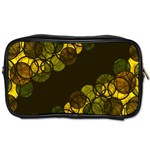 Yellow bubbles Toiletries Bags 2-Side Front