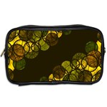 Yellow bubbles Toiletries Bags 2-Side Back