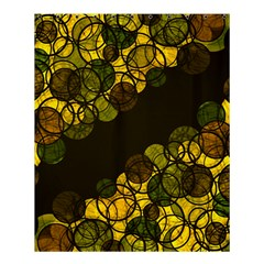 Yellow Bubbles Shower Curtain 60  X 72  (medium)  by Valentinaart