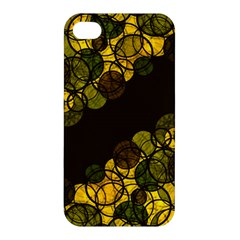 Yellow Bubbles Apple Iphone 4/4s Hardshell Case by Valentinaart