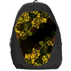 Yellow Bubbles Backpack Bag by Valentinaart