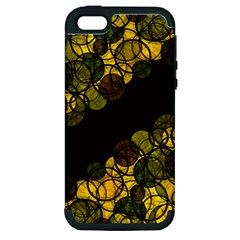Yellow Bubbles Apple Iphone 5 Hardshell Case (pc+silicone)