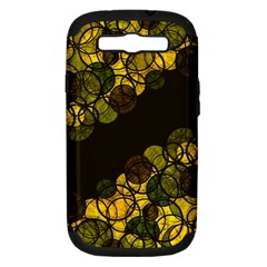 Yellow Bubbles Samsung Galaxy S Iii Hardshell Case (pc+silicone) by Valentinaart
