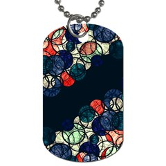 Orange And Blue Bubbles Dog Tag (two Sides) by Valentinaart