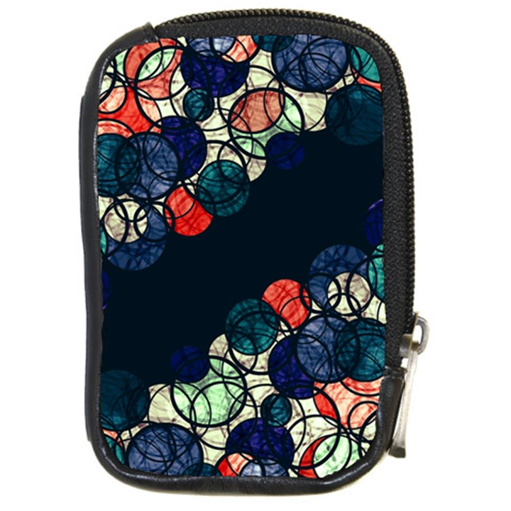Orange and blue bubbles Compact Camera Cases