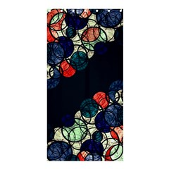 Orange And Blue Bubbles Shower Curtain 36  X 72  (stall)  by Valentinaart