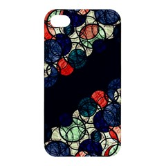 Orange And Blue Bubbles Apple Iphone 4/4s Hardshell Case by Valentinaart