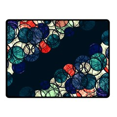 Orange And Blue Bubbles Double Sided Fleece Blanket (small)