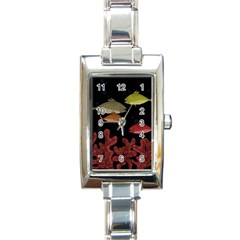 Corals Rectangle Italian Charm Watch by Valentinaart