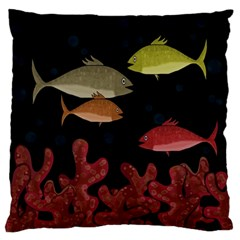 Corals Large Flano Cushion Case (two Sides) by Valentinaart