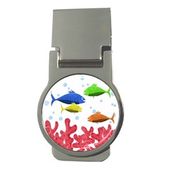 Corals And Fish Money Clips (round)