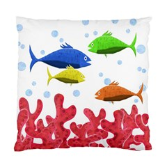 Corals And Fish Standard Cushion Case (two Sides)
