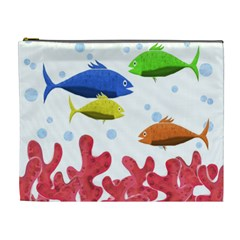 Corals And Fish Cosmetic Bag (xl) by Valentinaart