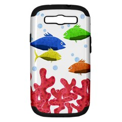 Corals And Fish Samsung Galaxy S Iii Hardshell Case (pc+silicone) by Valentinaart