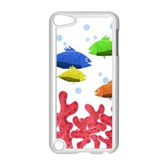 Corals And Fish Apple Ipod Touch 5 Case (white) by Valentinaart