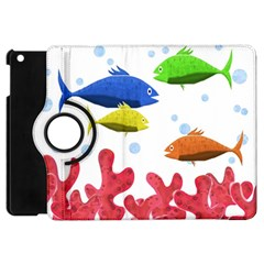 Corals And Fish Apple Ipad Mini Flip 360 Case by Valentinaart
