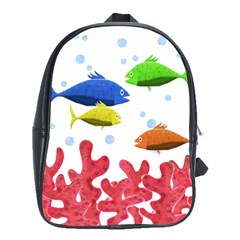 Corals And Fish School Bags (xl)  by Valentinaart