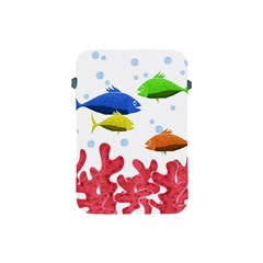 Corals And Fish Apple Ipad Mini Protective Soft Cases by Valentinaart