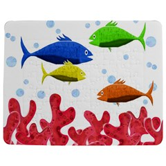 Corals And Fish Jigsaw Puzzle Photo Stand (rectangular) by Valentinaart