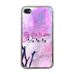 Magic Leaves Apple Iphone 4 Case (clear) by Brittlevirginclothing