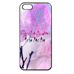 Magic Leaves Apple Iphone 5 Seamless Case (black) by Brittlevirginclothing