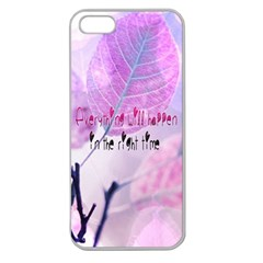 Magic Leaves Apple Seamless Iphone 5 Case (clear) by Brittlevirginclothing