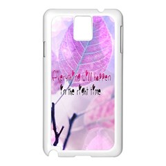 Magic Leaves Samsung Galaxy Note 3 N9005 Case (white) by Brittlevirginclothing