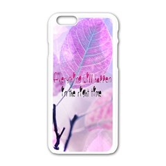 Magic Leaves Apple Iphone 6/6s White Enamel Case by Brittlevirginclothing