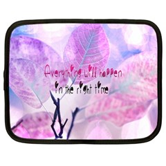 Magic Leaves Netbook Case (xl)  by Brittlevirginclothing