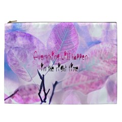 Magic Leaves Cosmetic Bag (xxl)  by Brittlevirginclothing