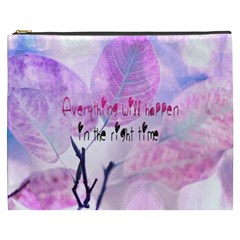Magic Leaves Cosmetic Bag (xxxl)  by Brittlevirginclothing