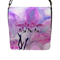 Magic Leaves Flap Messenger Bag (l)  by Brittlevirginclothing