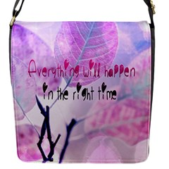 Magic Leaves Flap Messenger Bag (s) by Brittlevirginclothing