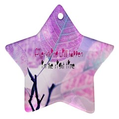 Magic Leaves Ornament (star)  by Brittlevirginclothing