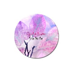 Magic Leaves Magnet 3  (round) by Brittlevirginclothing