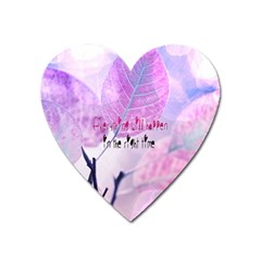 Magic Leaves Heart Magnet by Brittlevirginclothing