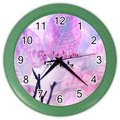 Magic Leaves Color Wall Clocks by Brittlevirginclothing