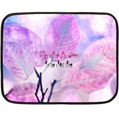 Magic Leaves Fleece Blanket (mini) by Brittlevirginclothing