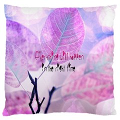 Magic Leaves Large Flano Cushion Case (one Side) by Brittlevirginclothing